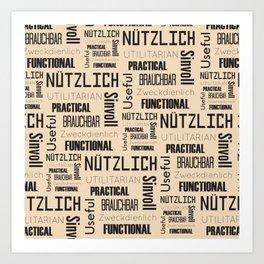 Nutzlich Pattern Art Print