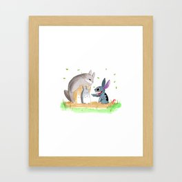Ohana Means Family Framed Art Print