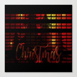 Christmas advent gloss sparkle Canvas Print