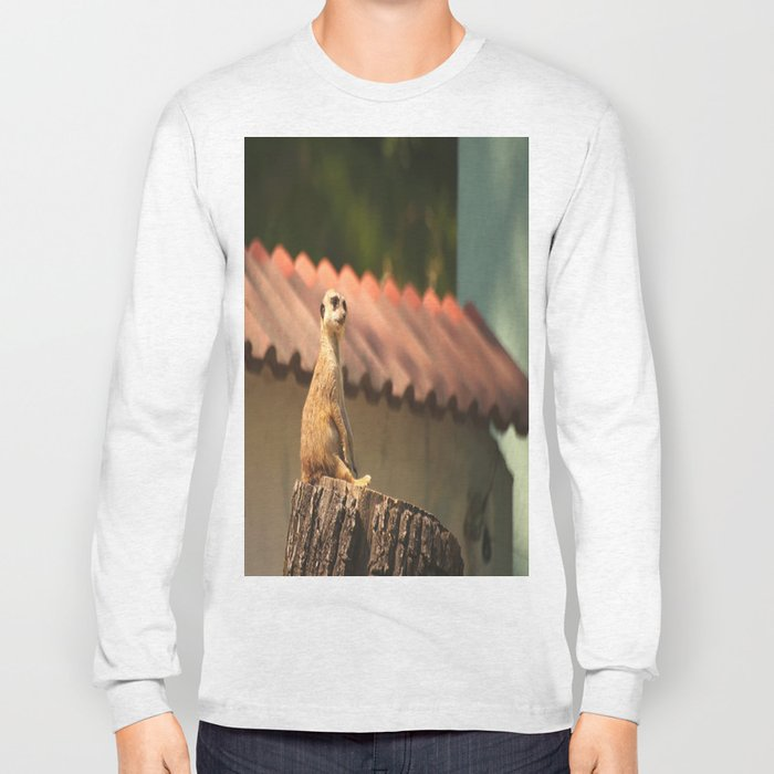 Meerkat Funny Observer #decor #society6 Long Sleeve T-shirt