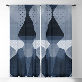The Japanese Princess - Muted Blue Blackout Curtain