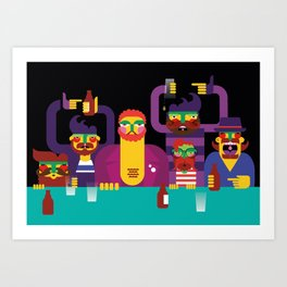 Bar People Art Print