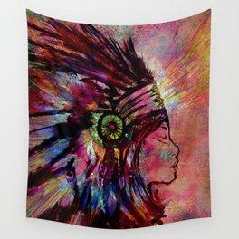 Native American Medicine Woman Spiritual Shaman Wall Tapestry
