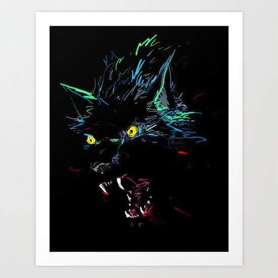 ElectroWolf Art Print