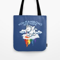 How Rainbows Are Made Tote Bag
