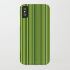 Many multicolored strips in the green sample iPhone X Slim Case