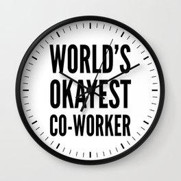 World's Okayest Co-worker Wall Clock