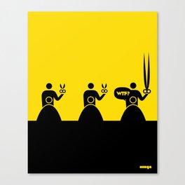 WTF? Peluqueria! Canvas Print