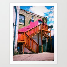 Alleyway architecture Art Print