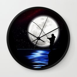 Rock Angler Wall Clock
