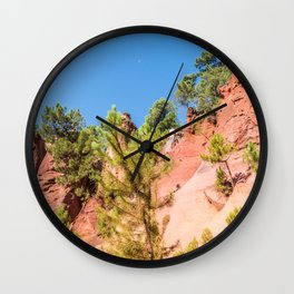Panoramic view of the ocher lands in the natural park Wall Clock