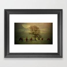A Winters Evening Framed Art Print