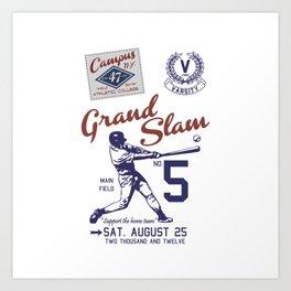 Baseball Grand Slam Vintage Design. Art Print