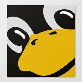 Linux tux Penguin eyes Canvas Print