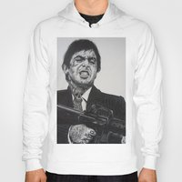 montana Hoodies featuring A TATTOOED TONY MONTANA by waynemaguire777