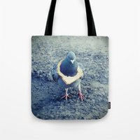 hiphop Tote Bags featuring HipHop Dove Walk by Sigurdfisk