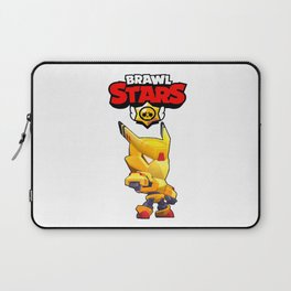 Gold Mecha Crow design | Brawl Stars Laptop Sleeve