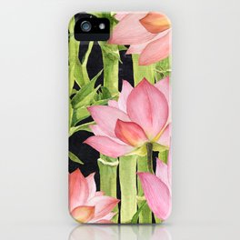 Tropical floral pattern #1 iPhone Case