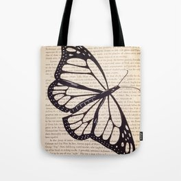 Butterfly in a Book Tote Bag