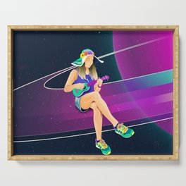 The girl from Saturn by #Bizzartino Serving Tray