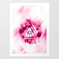 iPhone 4S Print - Pink Art Print