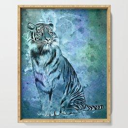 watercolor tiger Serving Tray