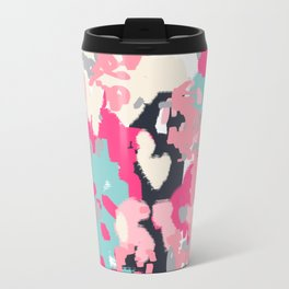 Addison - abstract minimal painting perfect gift valentines day hot pink love Travel Mug