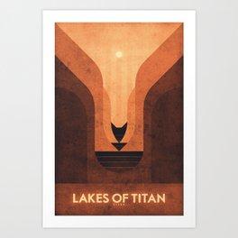 Titan - Lakes of Titan Art Print