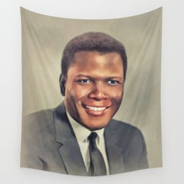 Sidney Poitier, Vintage Actor Wall Tapestry