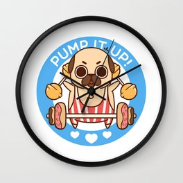 Pump It Up, Puglie! Wall Clock