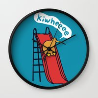kiwi Wall Clocks featuring Kiwi by Picomodi