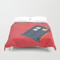 fez Duvet Covers featuring 11th Doctor - DOCTOR WHO by LindseyCowley