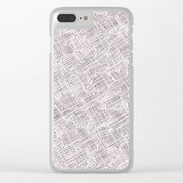 Ink Weaves: Morganite Clear iPhone Case