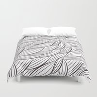 stark Duvet Covers featuring Stark Waves by SonyaDeHart