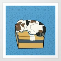 Sleeping Cat part 1 Art Print
