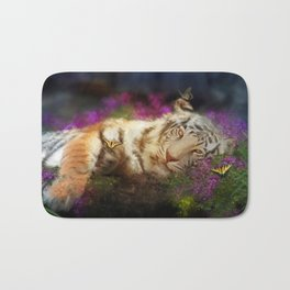 Tiger and Butterfly Bath Mat
