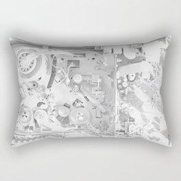 White Gears Rectangular Pillow