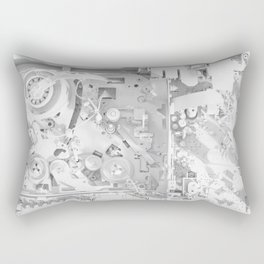 White Gears Rectangular Pillow
