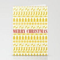 merry christmas Stationery Cards featuring Christmas Merry! by Fimbis