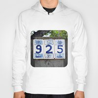 numbers Hoodies featuring Nautical Numbers by Ethna Gillespie