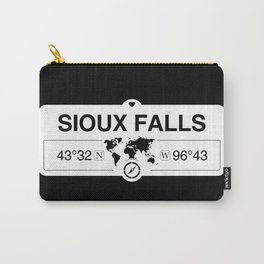 Sioux Falls South Dakota Map GPS Coordinates Carry-All Pouch