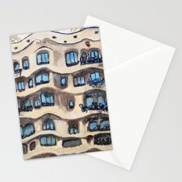 Barcelona, La Pedrera, building by Gaudi Stationery Cards