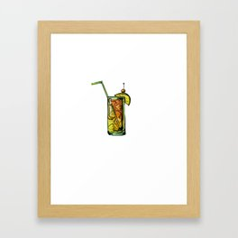 Drinking Ok But First Bahama Mama Framed Art Print