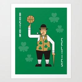 Boston NBA Celtics Art Print