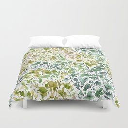 Flowers and plants ivy green Duvet Cover