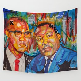 Malcolm X King Wall Tapestry