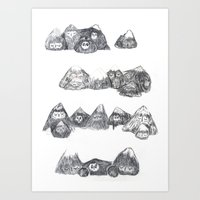Sleepy Mountains Art Print