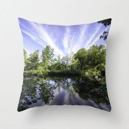 Hatfield Forest Lake England Essex Summer Throw Pillow