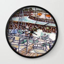 The Harbour 2, Figueira Da Foz, Portugal Wall Clock