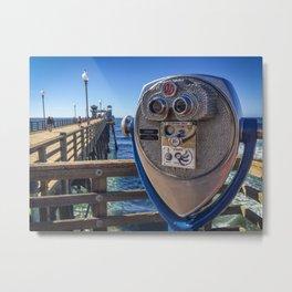 Oceanside Tower Viewer Metal Print